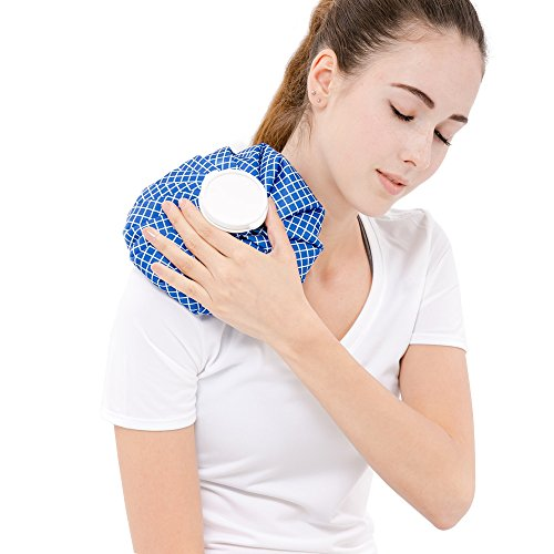 Fytto Thermal Therapy Pack, Large Leak-Proof Cap, Condensation Resistant Fabric,Blue Checker 9 Inch