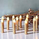 CCLIFE TÜV GS LED Weihnachtskerzen Kabellos RGB Kerzen Bunt...