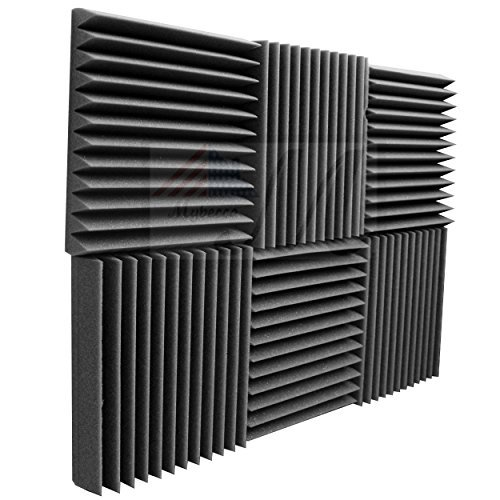 Mybecca 6 Pack Acoustic Foam Wedge 2' X 12' X 12' Studio...
