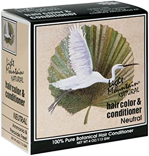 Light Mountain Natural Hair Conditioner, Neutral, 4 oz (113 g) (Pack of 3)