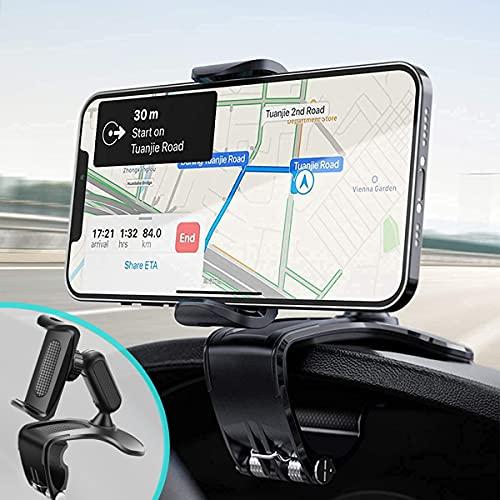Support de téléphone de Voiture , rétroviseur Multifonction pour Tableau de Bord de Voiture avec Pince à Ressort réglable à 360 °, adapté aux Smartphones de 4 à 7 Pouces