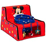 Disney Mickey Mouse Sit N Play Portable Activity Seat for Babies by Delta Children – Floor Seat for Infants