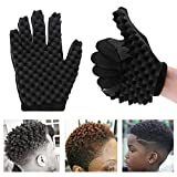 Magic Hair Curling Sponge Gloves for Barbers Twist Wave Curling Brush Styling Tool For Curly Hair Styling Care (Right...