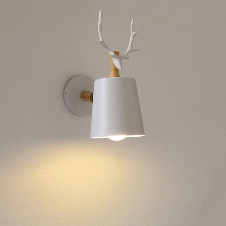 Zak Miller Wandleuchte LED Nordic Style Home Decoration Innenwandleuchte Schlafzimmer Nachttischlampe Einfache Geweihwandleuchte,Weiß