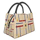 Bolsa de aislamiento portátil con un guiño a Bauhaus Circle de moda, portátil, aislante, bolsa de picnic para trabajo, escuela, viajes al aire libre, etc.