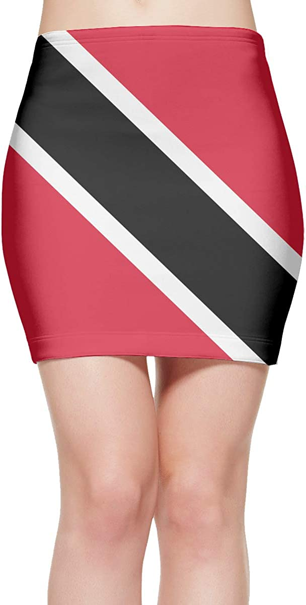 Chion Limited Limited time cheap sale price Mini Short Skirt Flag of Pencil Trinidad Tobago Waist and