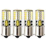 HRYSPN Led BA15s Bulb 12V AC/DC 1156 1141 S8 Single Contact Base, Waterproof Lamp, 5 Watt Cool White 6000K 500LM for Boat, RV, Auto Car, Outdoor Landscape Lighting etc (Pack of 4)