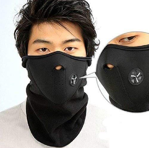 Hombre Mujer Cuello Máscara de cuello tubo cálido térmica Balaclava Motociclismo Deporte...