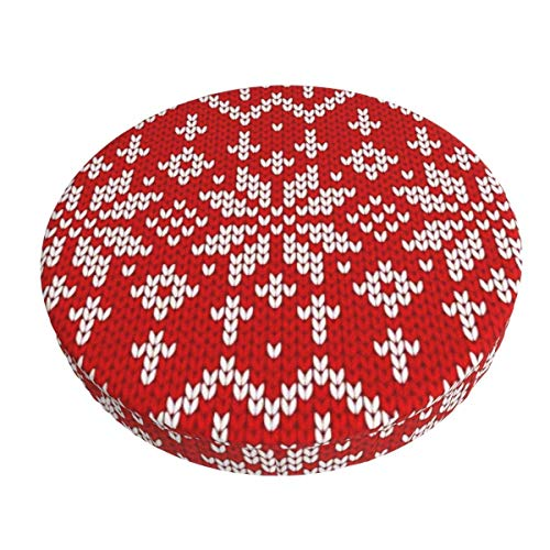 Round Bar Stools Cover,Sweater Fairisle Design Gedruckt,Stretch Chair Seat Bar Stool Cover Seat Cushion Slipcovers Chair Cushion Cover Round Lift Chair Stool