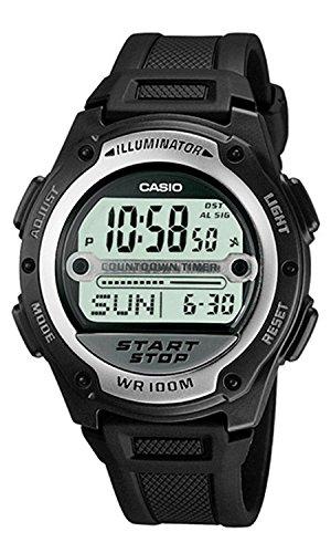 [CASIO] 腕時計 スタンダード デジタル液晶 サッカー 審判 試合時間計測用 海外モデル W-756-1A ユニセックス ブラック [並行輸入品]