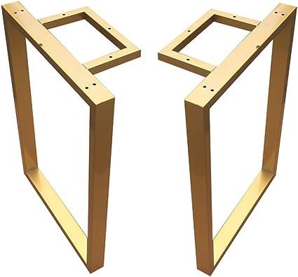 Mzsh Gambe Tavolo Oro Set Di 2 Cucina Pranzo Gamba Per Tavolo Base Per Tavoli Da Bar In Acciaio Gambe Da Scrivania Regolabili Facile Da Installare Amazon It Casa E Cucina