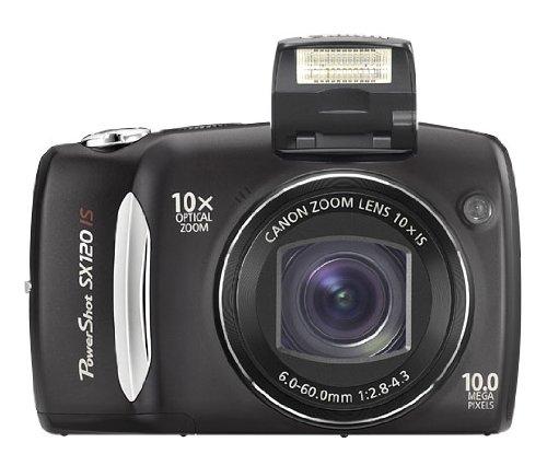 Canon PowerShot SX120 IS Digitalkamera (10 MP, 10-fach opt. Zoom, 7,6cm (3 Zoll) LCD-Display) schwarz
