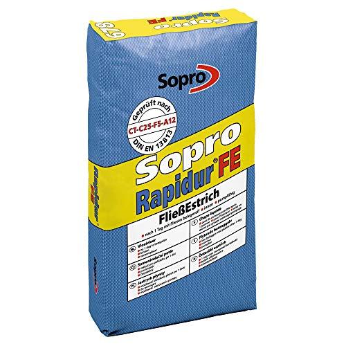 Sopro Rapidur® FließEstrich FE 678 Sack schnell erhärtender und früh belegereifer Zementfließestriche - 25 KG/Sack