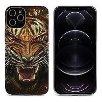 虎の壁紙 iPhone 12&iPhone 12 Pro&iPhone 12Pro Max&iPhone 12 miniと互換性のあるクリスタルクリアTPUケース、アンチイエロー、保護耐衝撃落下保護ケース