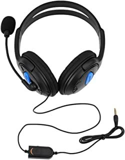 Wired Gaming Headset Headphones with Microphone for Sony PS4 PlayStation 4 Black and Blue