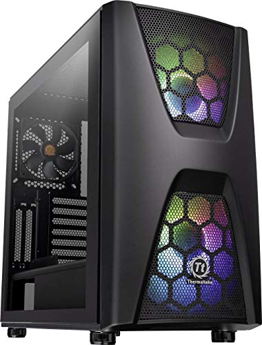 Thermaltake Commander C 34 TG Argb Edition/Dual 200mm Argb Fans/Tempered Glass/ATX Mid-Tower Chassis Schwarz