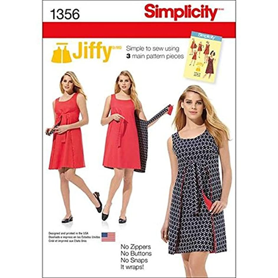 Simplicity 1356 Easy to Sew Women's Reversible Wrap Dress Sewing Pattern, Sizes 14-22