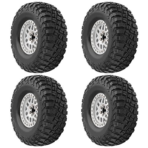 WYDM Neumático de Oruga RC 4PCS Neumáticos Neumáticos de Rueda 1:10 Coche de Oruga RC para Hsp/Tamiya/Axial SCX10 D90