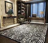 SESO UK Diseño Moderno nórdico Alfombra de Lujo Patrón de imitación Villa salón Dormitorio Alfombras Grandes (Color : Zebra Lines, Tamaño : 160×200cm)