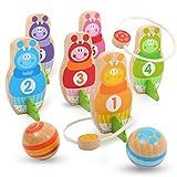 ボウリングの子供のおもちゃ屋内と屋外の親子スポーツトレーニングゲームボウリングボールとフェルールのツーインワンモデリング子供の手と目の調整の練習 (Color : 6 bottles 3 balls)