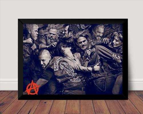 Quadro Serie Sons Of Anarchy Foto Arte Poster Com Moldura