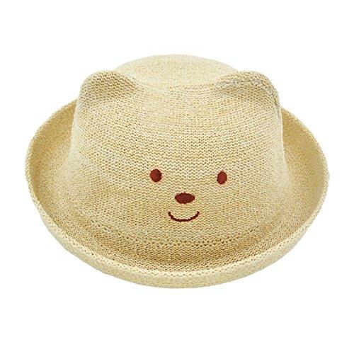 Blancho Joli Chapeau de Paille Sun Chapeau Casquette pour Enfant/bébé vêtements/bébé Unisexe – Beige Ours