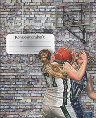 Kompositionsheft: C.| Basketball-Notizbuch | GRAFIKPAPIER (7,5 x 9,25 Zoll) 110 Seiten | Für Jungen Mädchen Kinder Jugendliche Studenten | Basketball-kompositions-notizbuch |