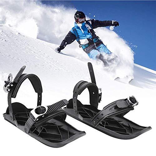 LTongx Mini Ski Schlittschuhe Schneeschuhe Short Skiboard Snowblades Outdoor Sports Entertainment Zubehör Ski-Zubehör