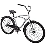 Huffy 26' Cranbrook Men's Beach Cruiser Comfort Bike, Silver