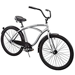 "in budget affordable Huffy 26 ""Cranbrook Men's Beach Cruiser Comfort Bike, Silver"