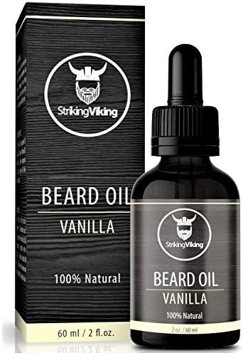 Vanilla Beard Oil Large 2 oz 100 Natural Beard Conditioner with Organic Tea Tree Argan and Jojoba product image