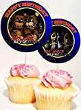 Crafting Mania LLC. 12 Five Nights at Freddy's Birthday Inspired Party Picks, Cupcake Picks, Cupcake Toppers #1