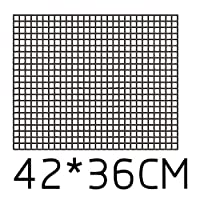 フードクリップオイルブラシベーキングネットライナー付きノンスティックバーベキューマット再利用可能な耐熱BBQベーキングパッド箔Oilpaper (Color : 36x42 black net)