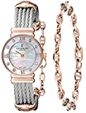 Charriol St-Tropez Ladies Mother of Pearl Dial Rose Gold Plated Diamond Watch 028PD1.540.552