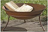 Seaside No.64 - Feuerschale Grillstelle Inclusive Dreibein - Rostoptik aus Metall - Gartenparty Gartendekoration Gartenausstattung - Durchmesser 47cm Höhe 22cm -