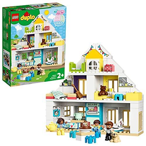 LEGO 10929 Duplo Town Casa de Juegos Modular, Juguete 3en1, Casa de Muñecas con Mini Figuras y Animales para Niños +2 años