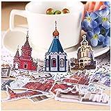 MNHG 23pcs Creative Kawaii selbst gemacht Senden Sie eine Traumstadt Burg schöne Aufkleber...