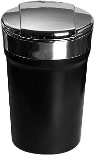WAKAUTO 1 stück Auto aschenbecher tragbaren aschenbecher langlebig Auto versorgung Zigarette aschenbecher für Auto aschenbecher mit Deckel (schwarz)