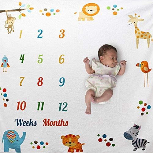 biteri Baby Monatliche Meilenstein-Decke Fotohintergrund,Baby Foto Decke Dusche Geschenke für Jungen Mädchen