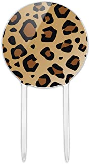 GRAPHICS & MORE Acrylic Leopard Print Animal Spots Cake Topper Party Decoration for Wedding Anniversary Birthday Graduation