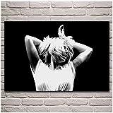 YKing1 Sia Konzert Tanz Performance Schwarz-Weiß-Porträt