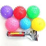 jameitop® 10x Igelball Stachelball Noppenball Massageball Bunte Farben inkl. Ballpumpe, Durchmesser...