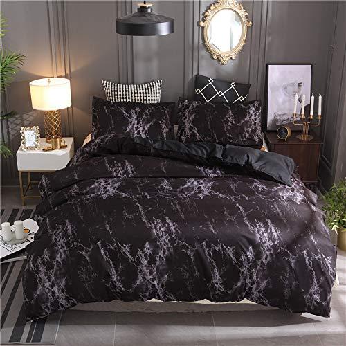 BIANXU Juego de funda de edredón con diseño de mármol nórdico moderno con funda de almohada para cama doble, matrimonial, queen, king size, 5 colores, 200 x 200 cm+2 fundas de almohada de 50 x 70 cm.