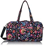 Vera Bradley Women's Signature Cotton Medium Travel Duffel Bag, Foxwood, One Size