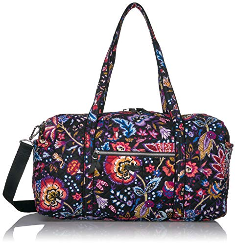 Vera Bradley Women's Signature Cotton Medium Travel Duffel Travel Bag, Foxwood, One Size