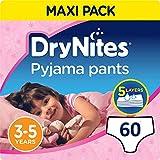 Huggies DryNites Girl hochabsorbierende Pyjamahosen Unterhosen für Mädchen 3-5 Jahre, 6x 10 Stück