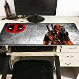 Mouse Pads 3D Online Competitive Games 2Pcs Extended Pc Mouse Mat Computer Mouse Pad Gaming Laptop Mat XXL Manga Table Pad Deadpool 300×700×3Mm