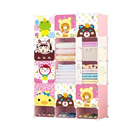 Armario Los niños y niñas de combinación de Dibujos Animados bebé Gabinete de Almacenamiento Simple Económico Gabinete Desmontable FANJIANI (Color : B)