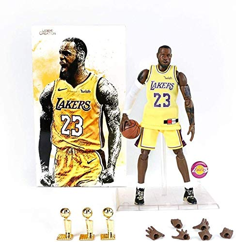 Lebron James Action Figure Laker 23 Jersey Popular Basketball Player Model Kit Exquisite Packaging