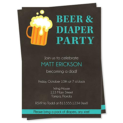Beer & Diaper Baby Shower Invitations